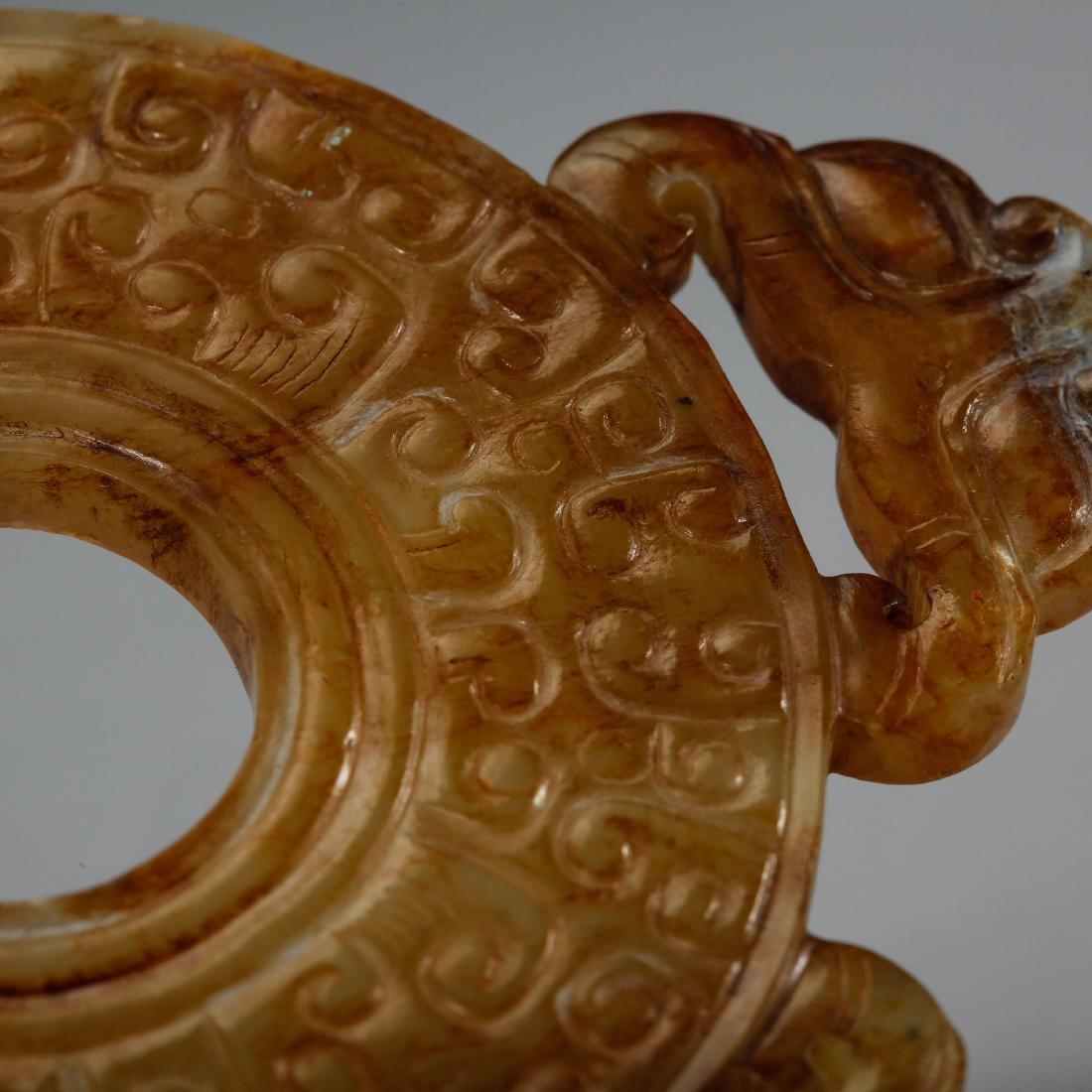CHINESE ARCHAIC JADE BI DISK, HAN DYNASTY - 9