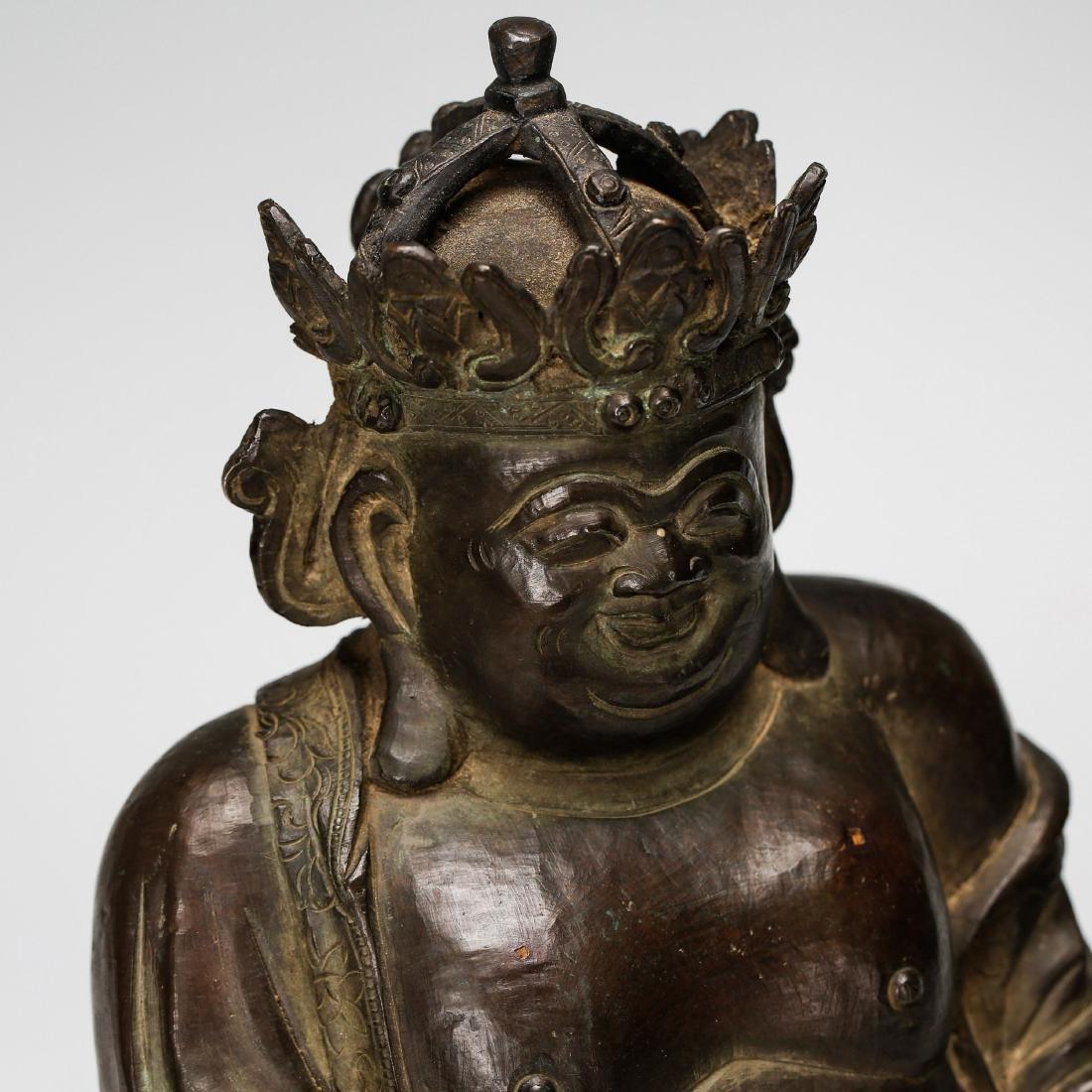 CHINESE BRONZE FIGURE OF BUDDHA - 5