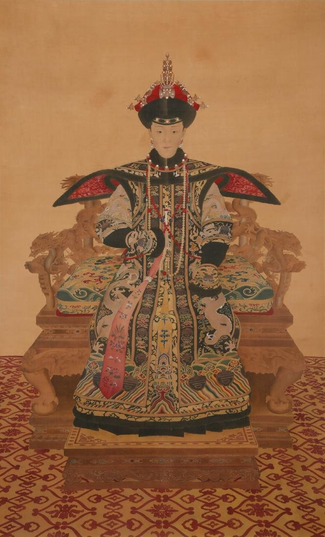 CHINESE INK AND COLOR PAINTING OF EMPRESS