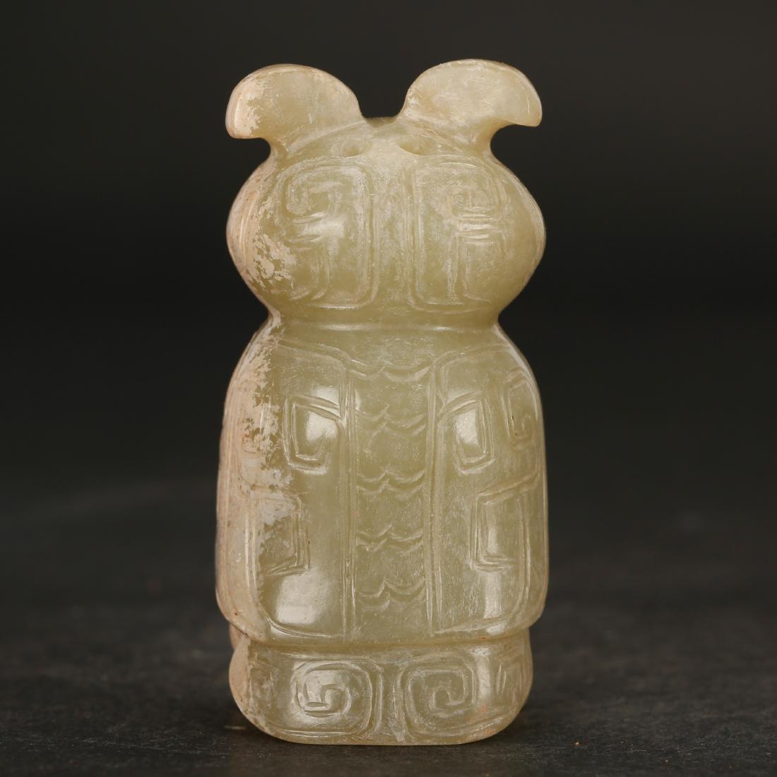 CHINESE ARCHAIC JADE BEAST - 5