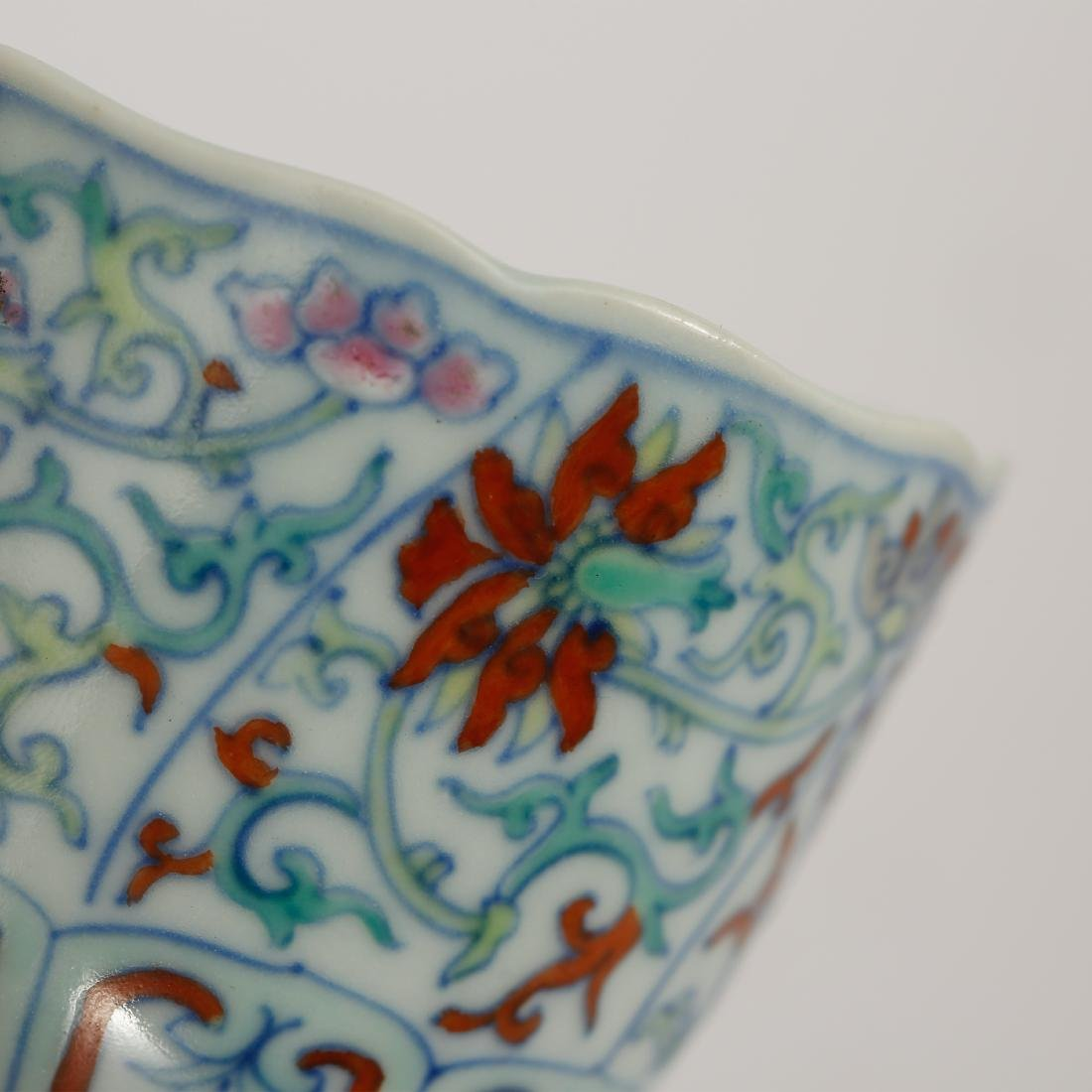 CHINESE DOUCAI CUP AND SAUCER - 3