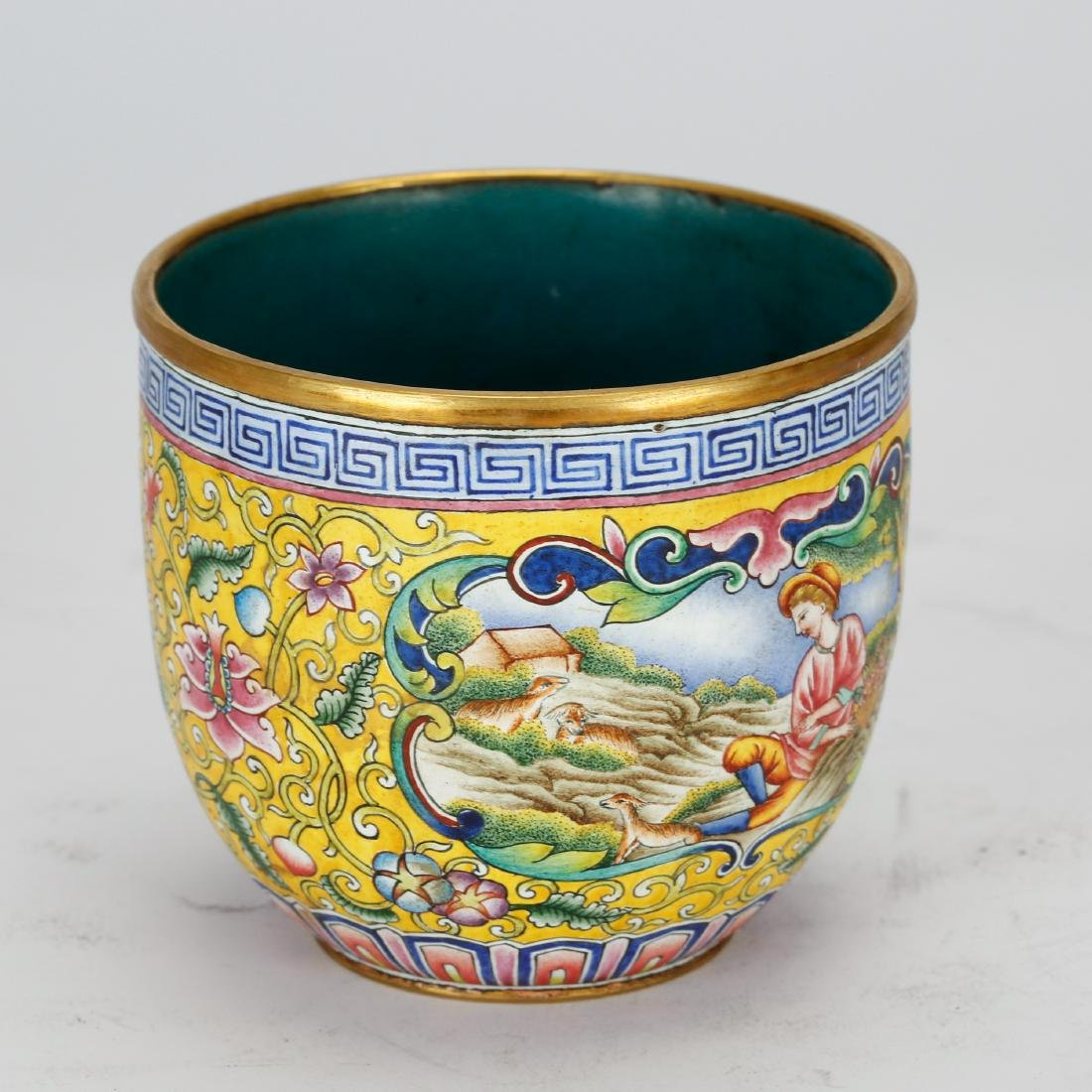 CHINESE BRONZE ENAMEL CUP