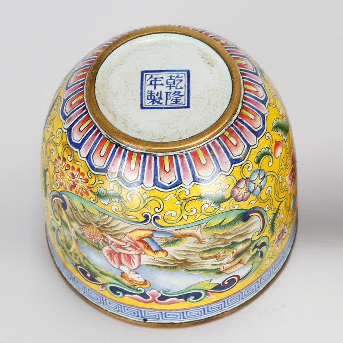 CHINESE BRONZE ENAMEL CUP - 4
