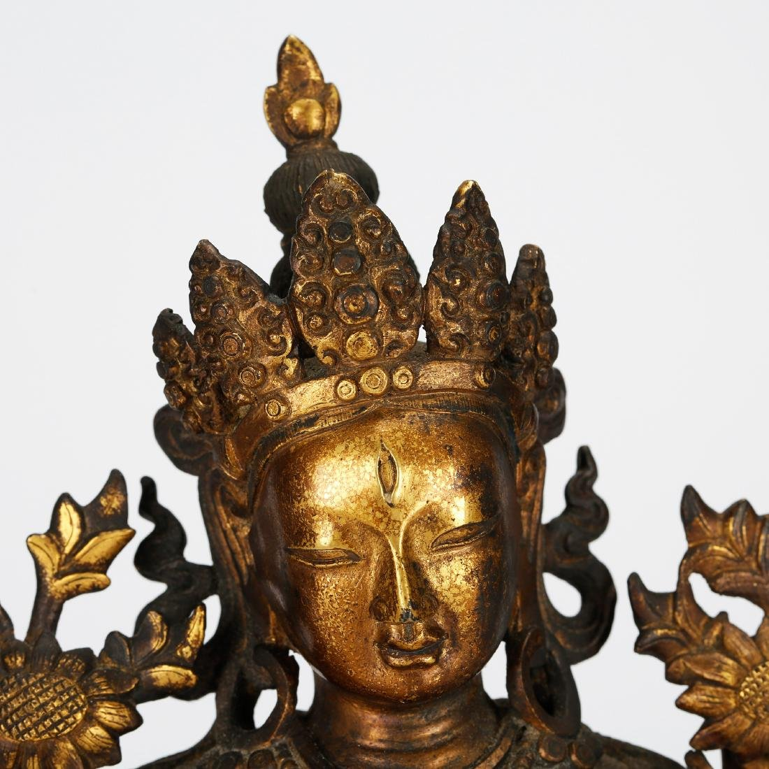 CHINESE GILT BRONZE TARA - 5