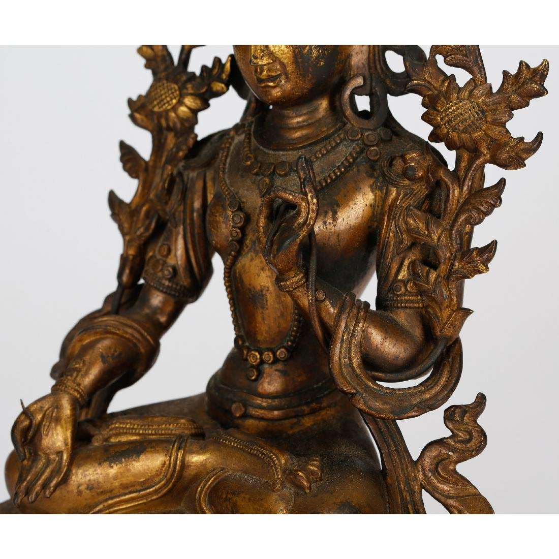 CHINESE GILT BRONZE TARA - 6