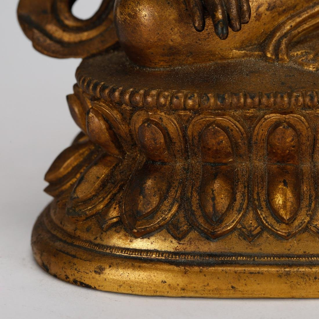 CHINESE GILT BRONZE TARA - 8