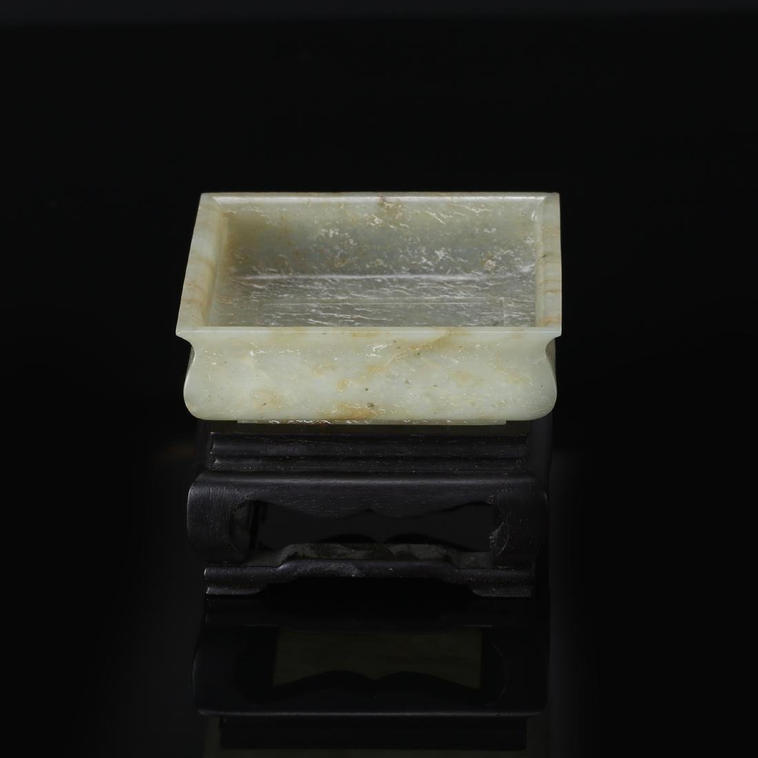 CHINESE CELADON JADE BRUSH WASHER