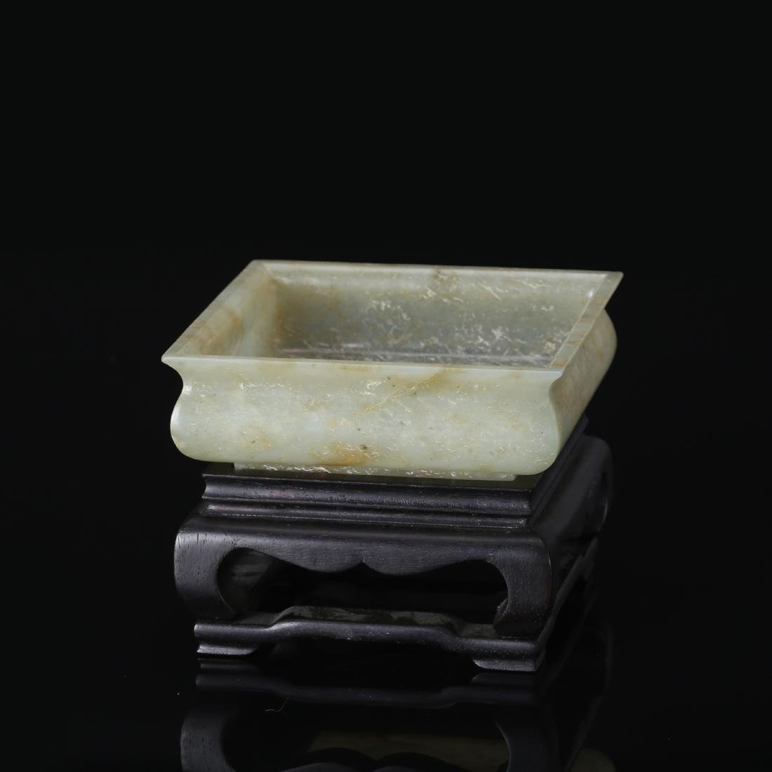 CHINESE CELADON JADE BRUSH WASHER - 2