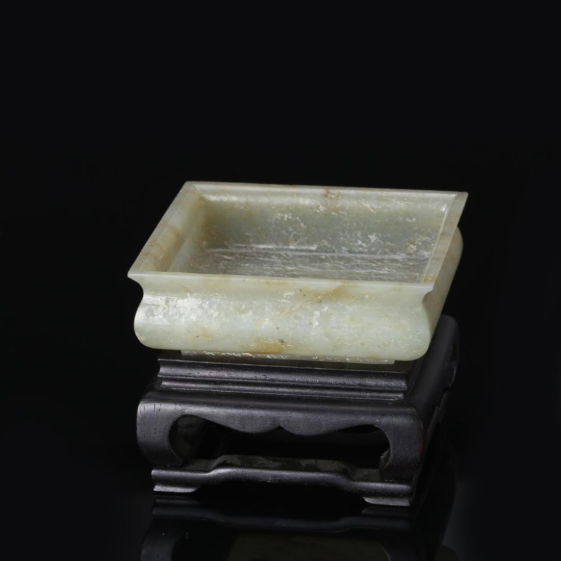 CHINESE CELADON JADE BRUSH WASHER - 3