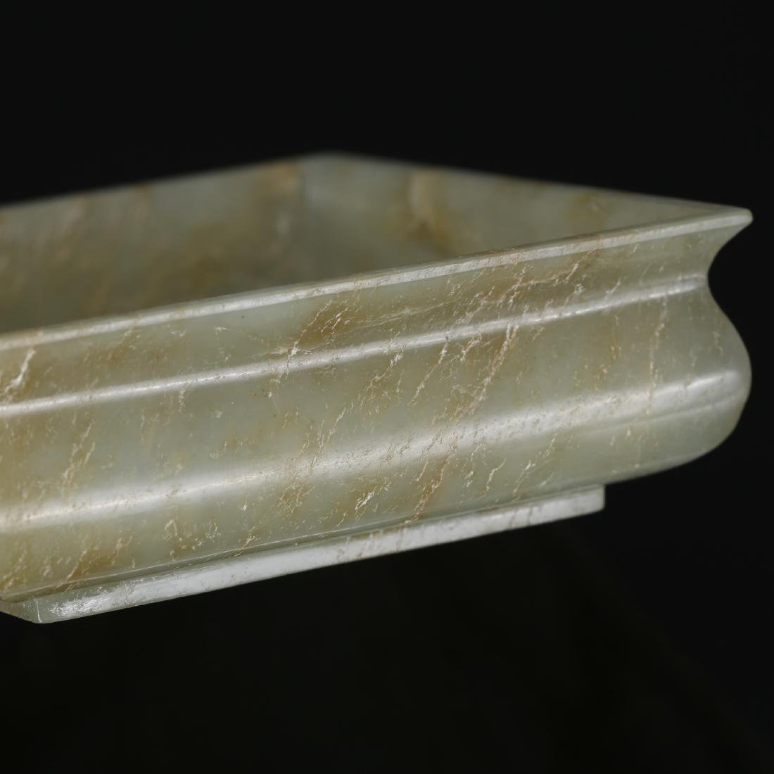 CHINESE CELADON JADE BRUSH WASHER - 6