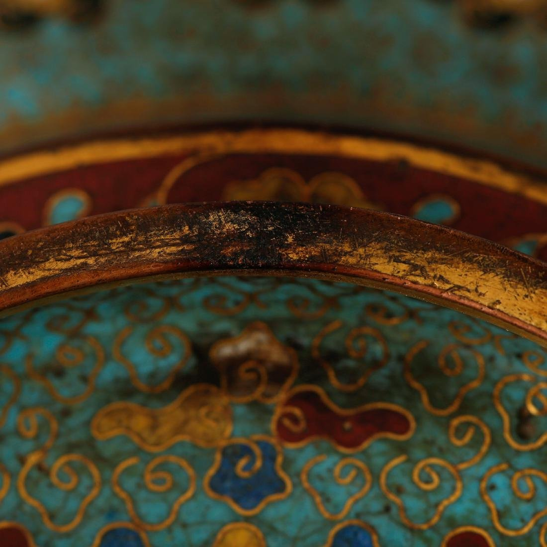 CHINESE CLOISONNE ENAMEL CANDLE STAND - 7