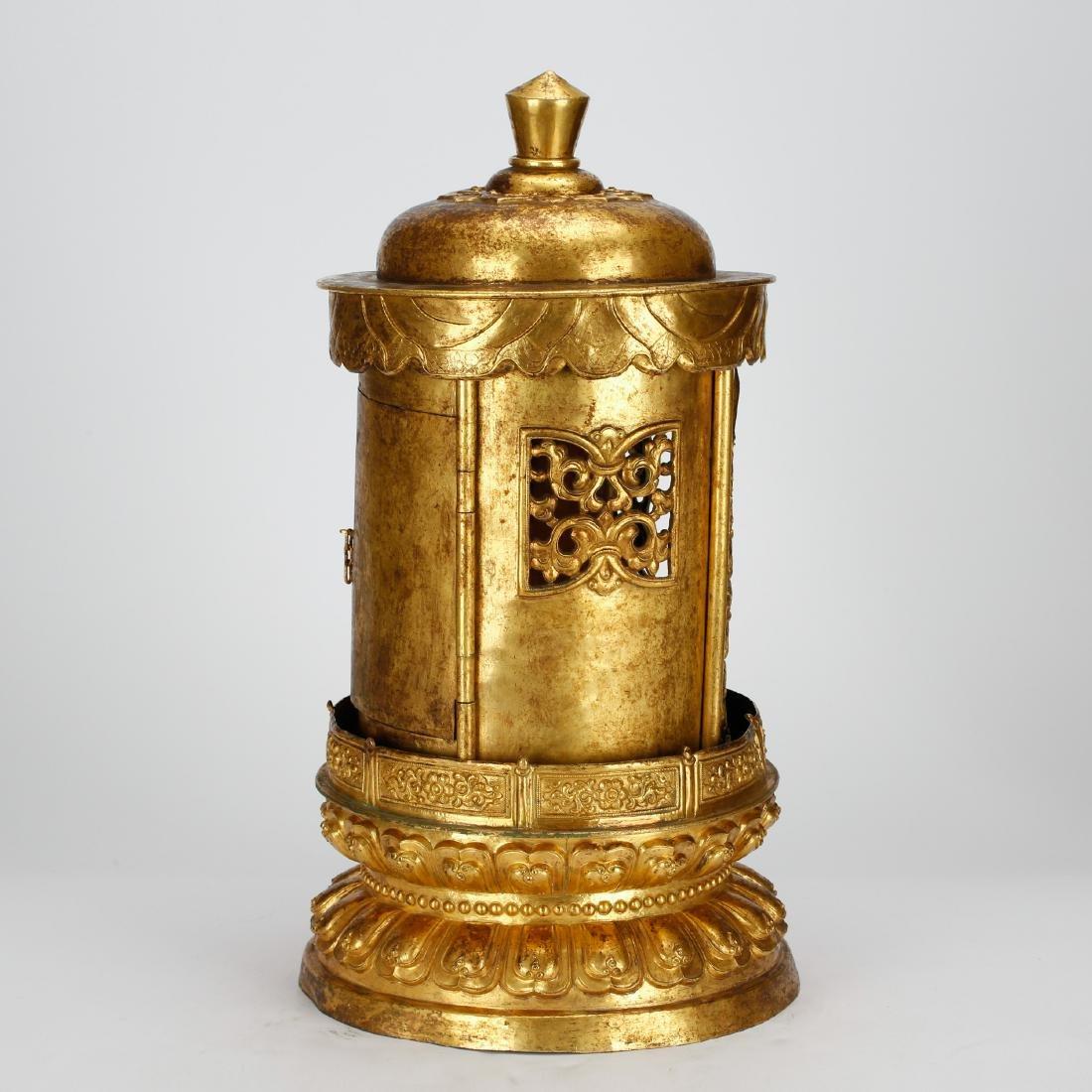 CHINESE GILT BRONZE BUDDHIST SHRINE - 2