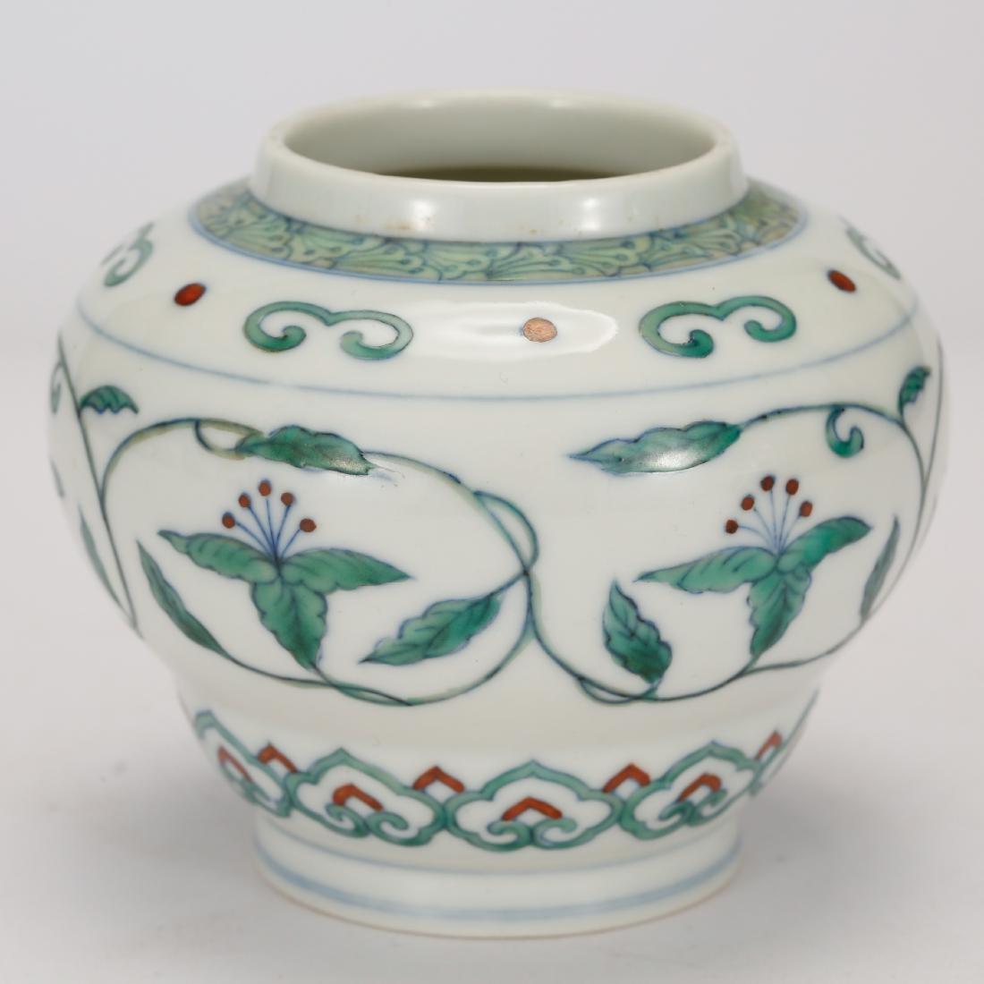 CHINESE DOUCAI PORCELAIN JAR - 2
