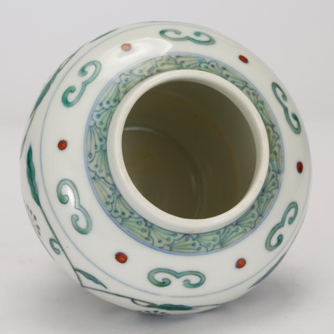 CHINESE DOUCAI PORCELAIN JAR - 3