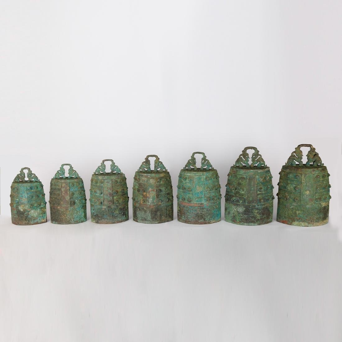 CHINESE ARCHAIC STYLE BRONZE BELLS - 2