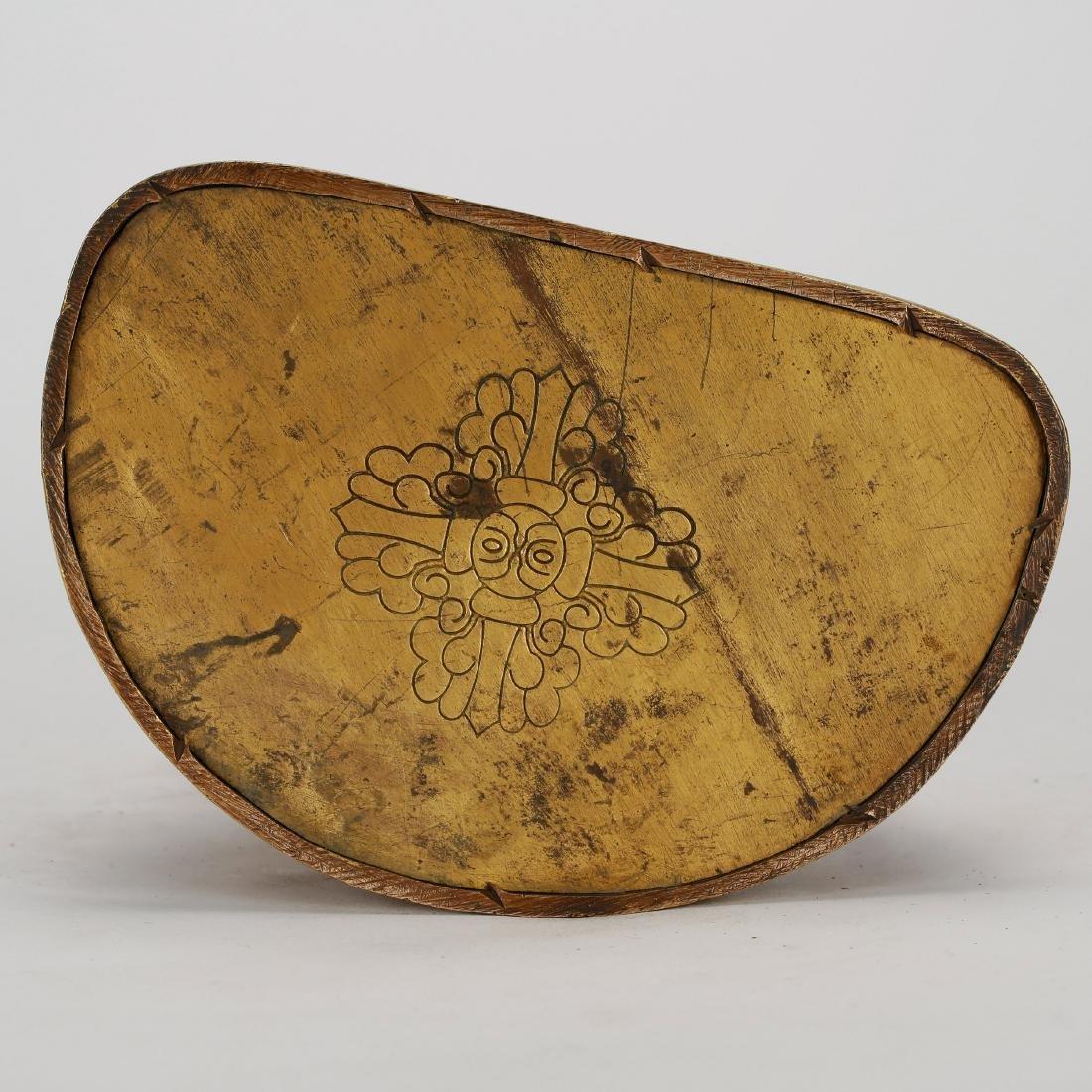 CHINESE GILT BRONZE SEATED SHAKYAMUNI - 8