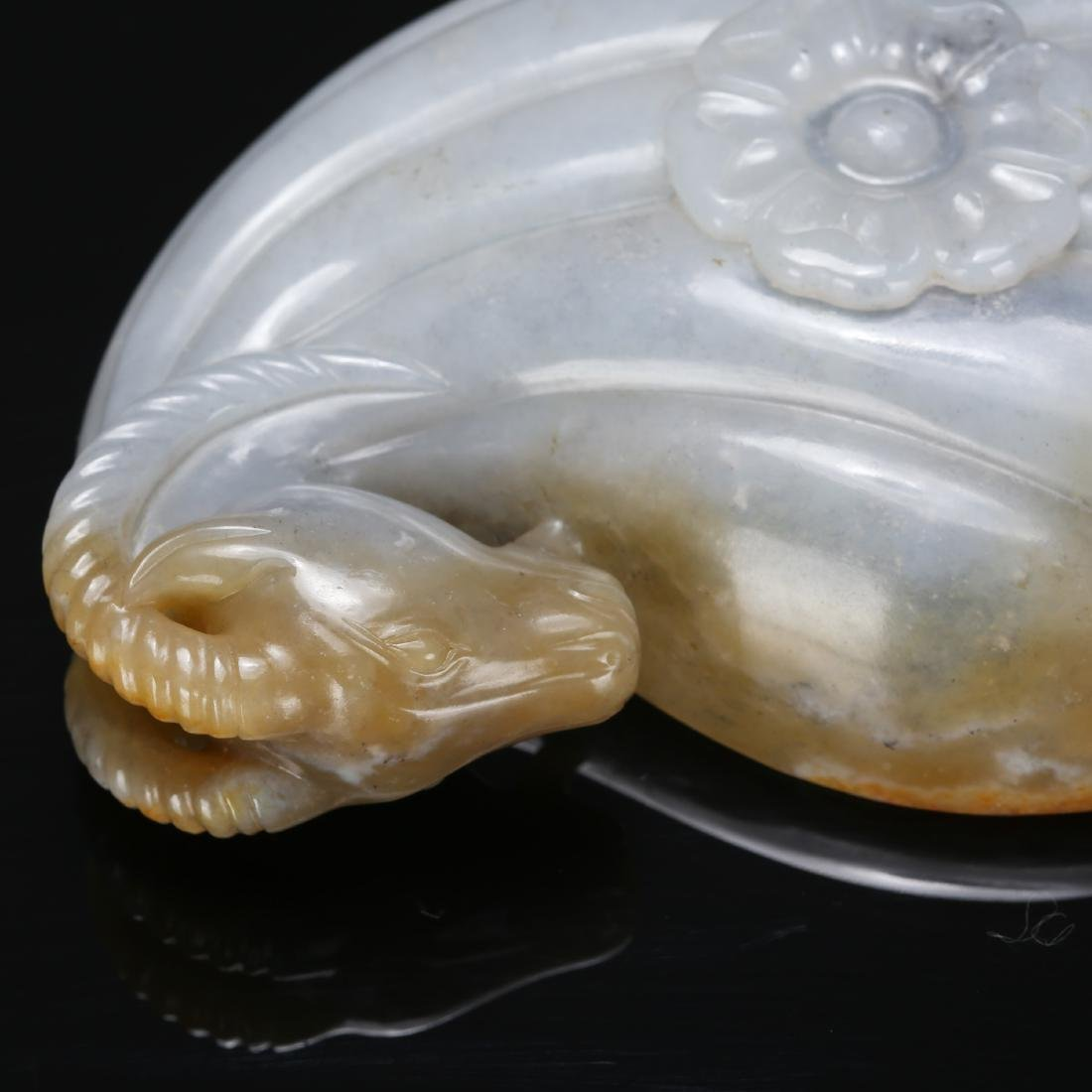 CHINESE MUGHAL STYLE JADE RAM WATER COUPE - 2