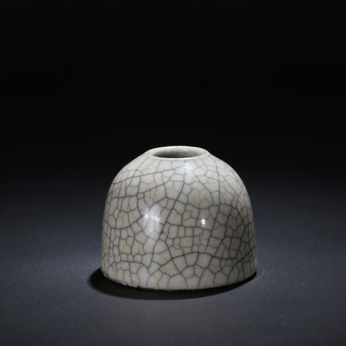 CHINESE CRACKLE GLAZED WATER COUPE