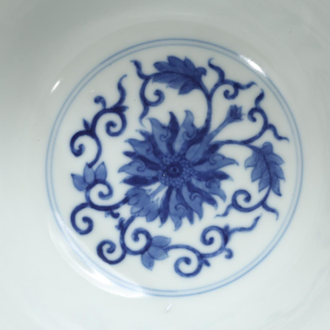CHINESE BLUE AND WHITE FOLIAGE BOWLS - 5