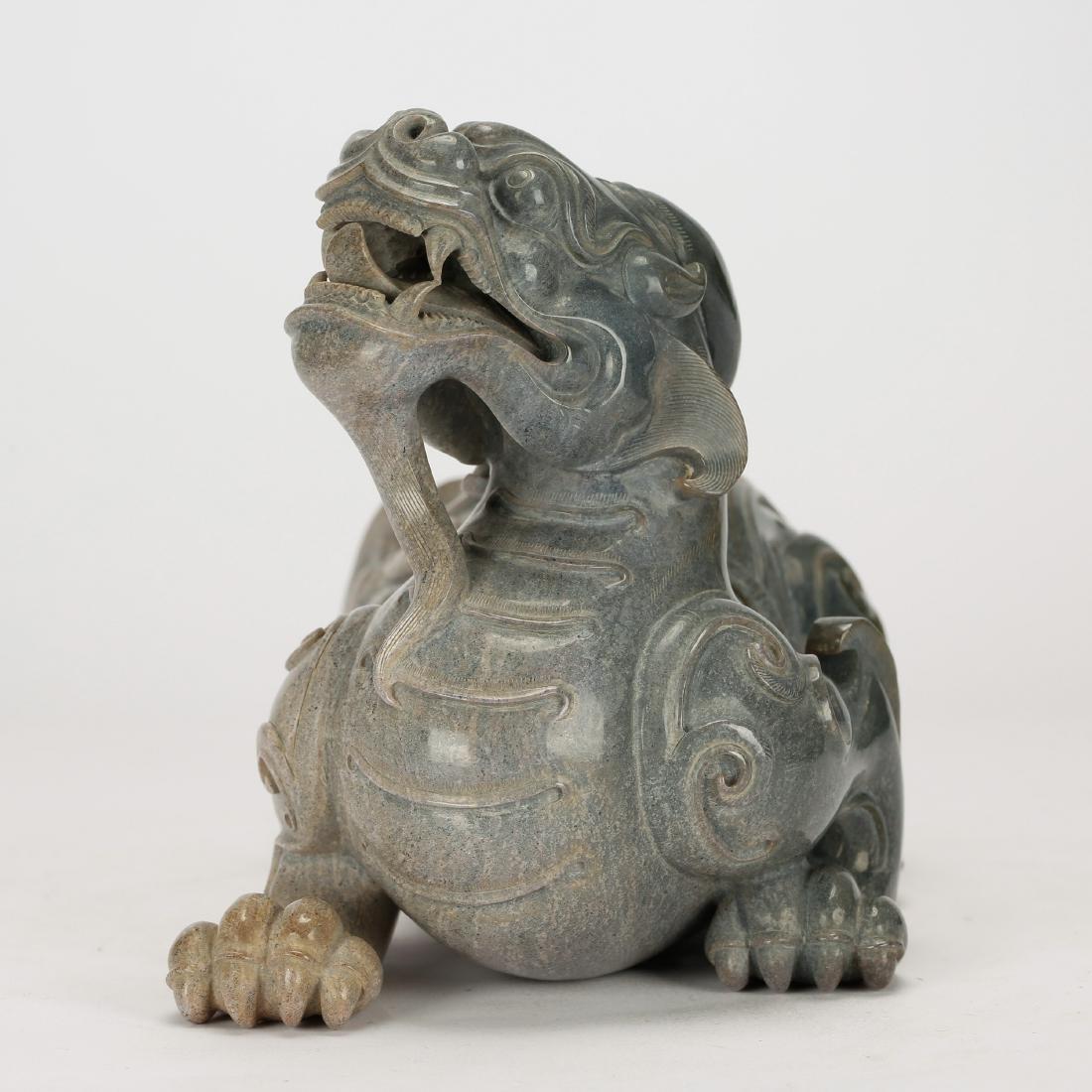 CHINESE ARCHAIC STYLE JADE BEAST - 2