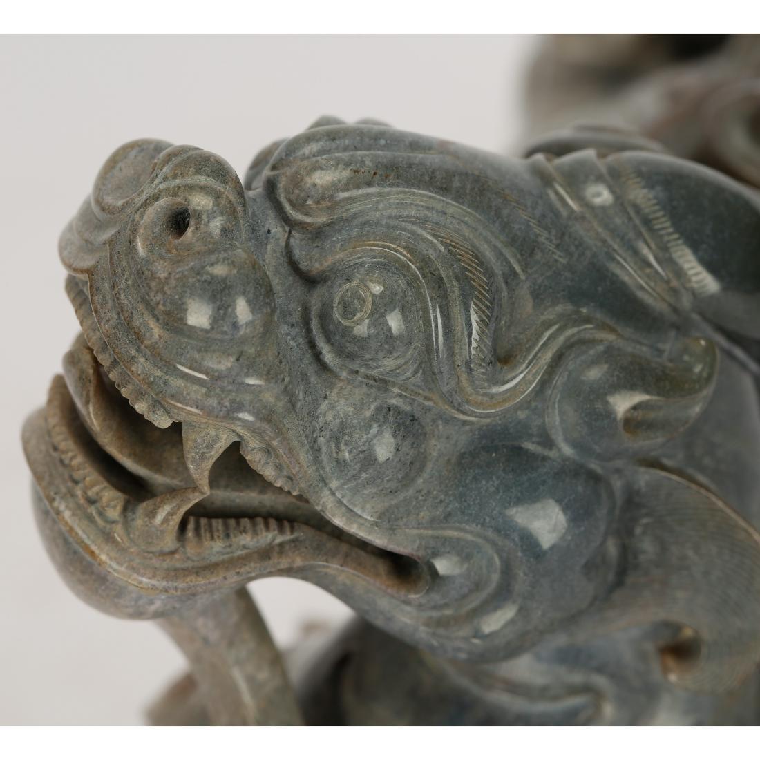CHINESE ARCHAIC STYLE JADE BEAST - 5