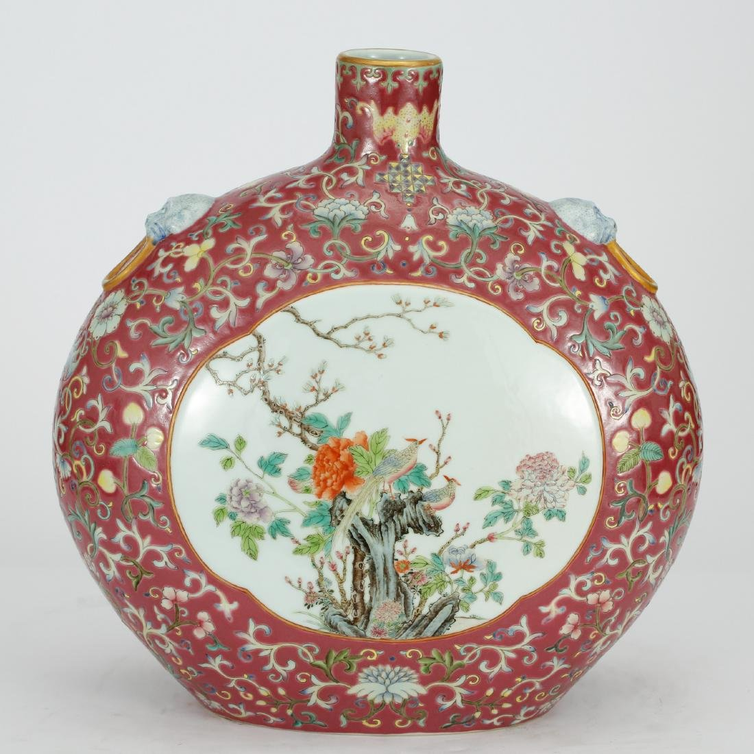 CHINESE FAMILLE ROSE MOONFLASK VASE