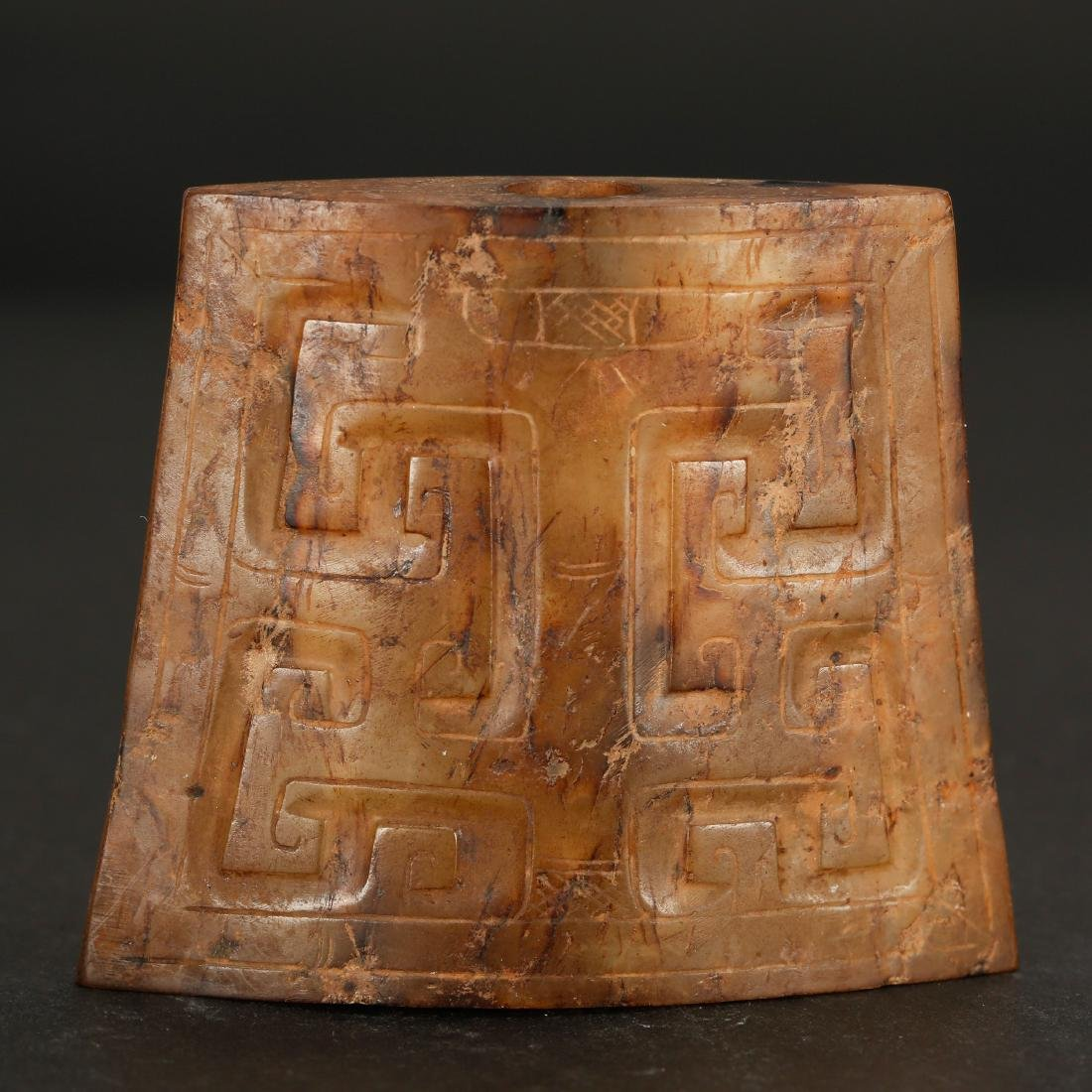 CHINESE ARCHAIC STYLE JADE ORNAMENT