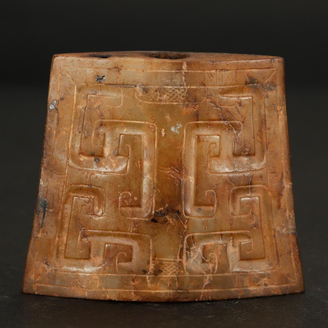 CHINESE ARCHAIC STYLE JADE ORNAMENT - 2
