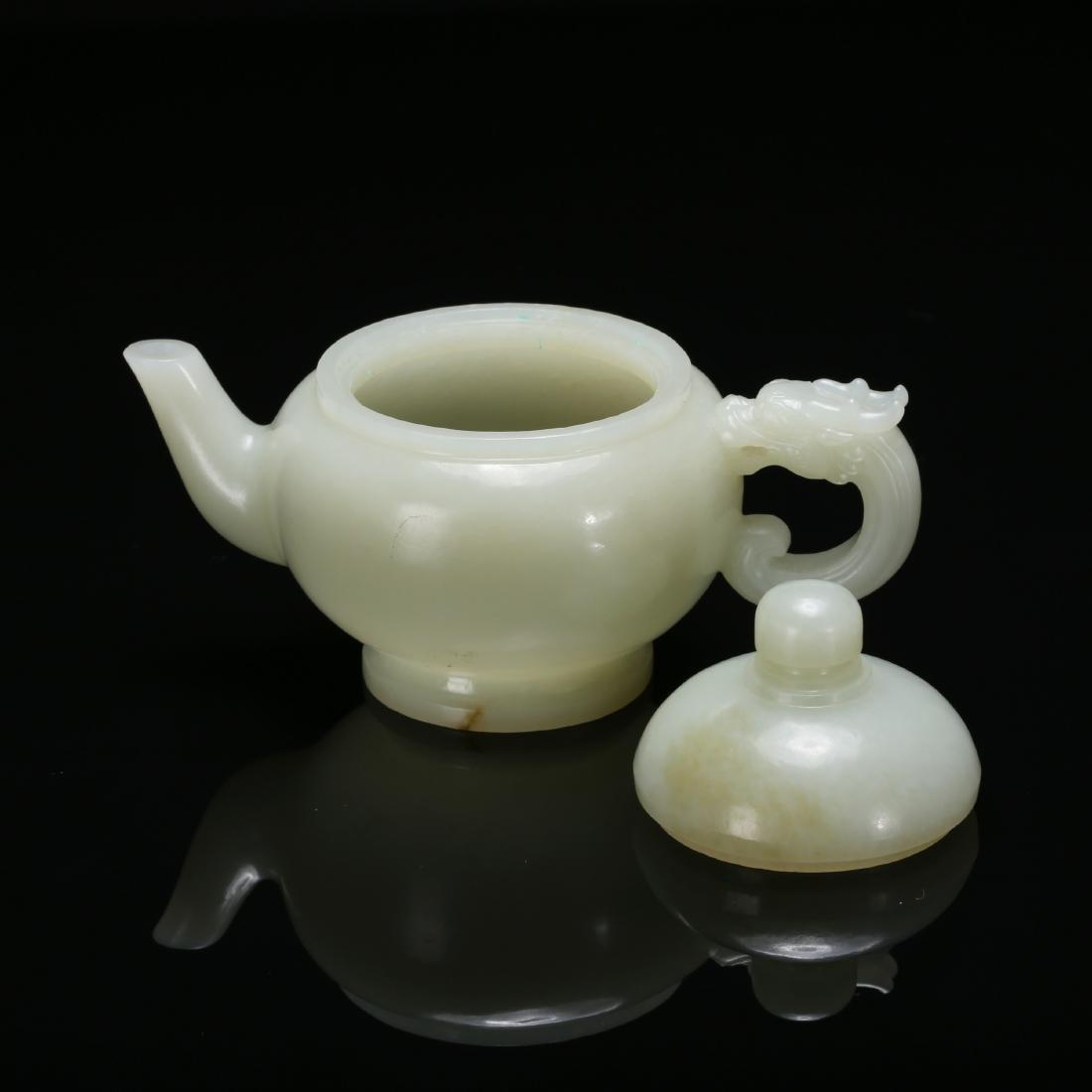 CHINESE CELADON JADE TEA POT - 5