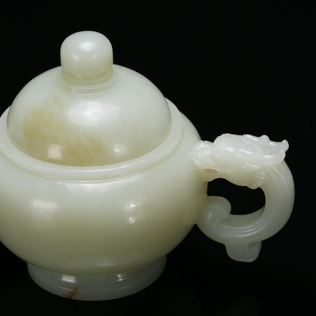 CHINESE CELADON JADE TEA POT - 6
