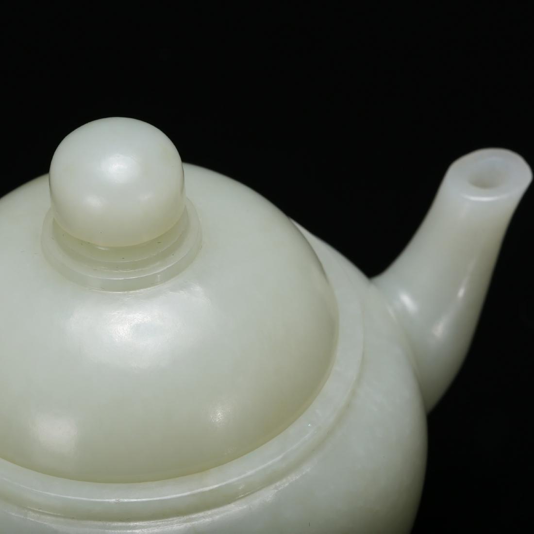 CHINESE CELADON JADE TEA POT - 9