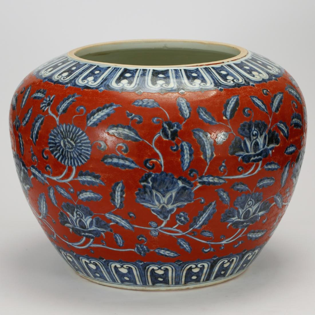 CHINESE BLUE WHITE RED GROUND PORCELAIN JAR - 4