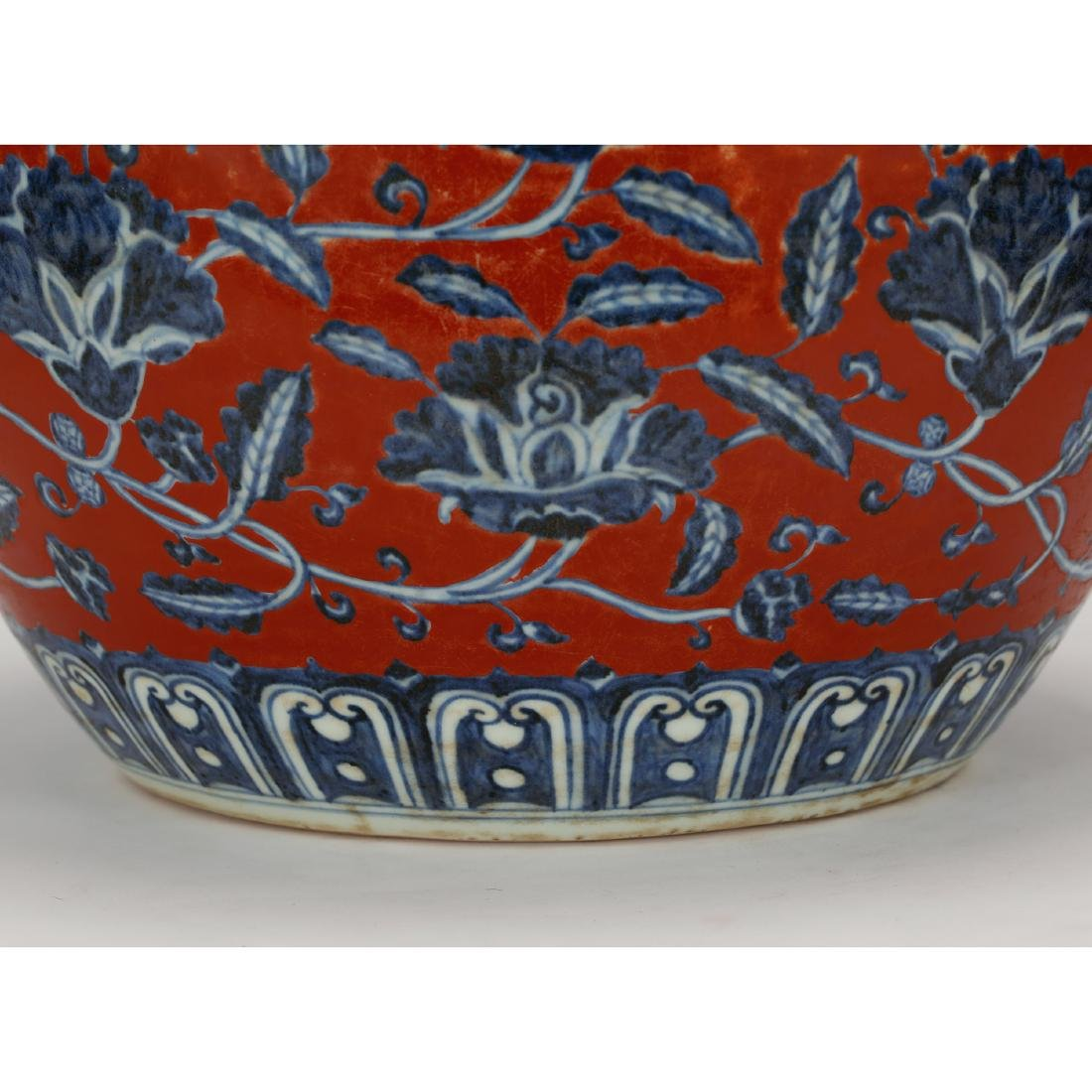 CHINESE BLUE WHITE RED GROUND PORCELAIN JAR - 6