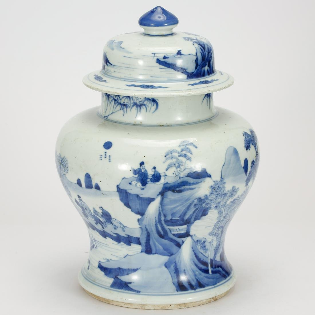 CHINESE BLUE AND WHITE GINGER JAR - 2