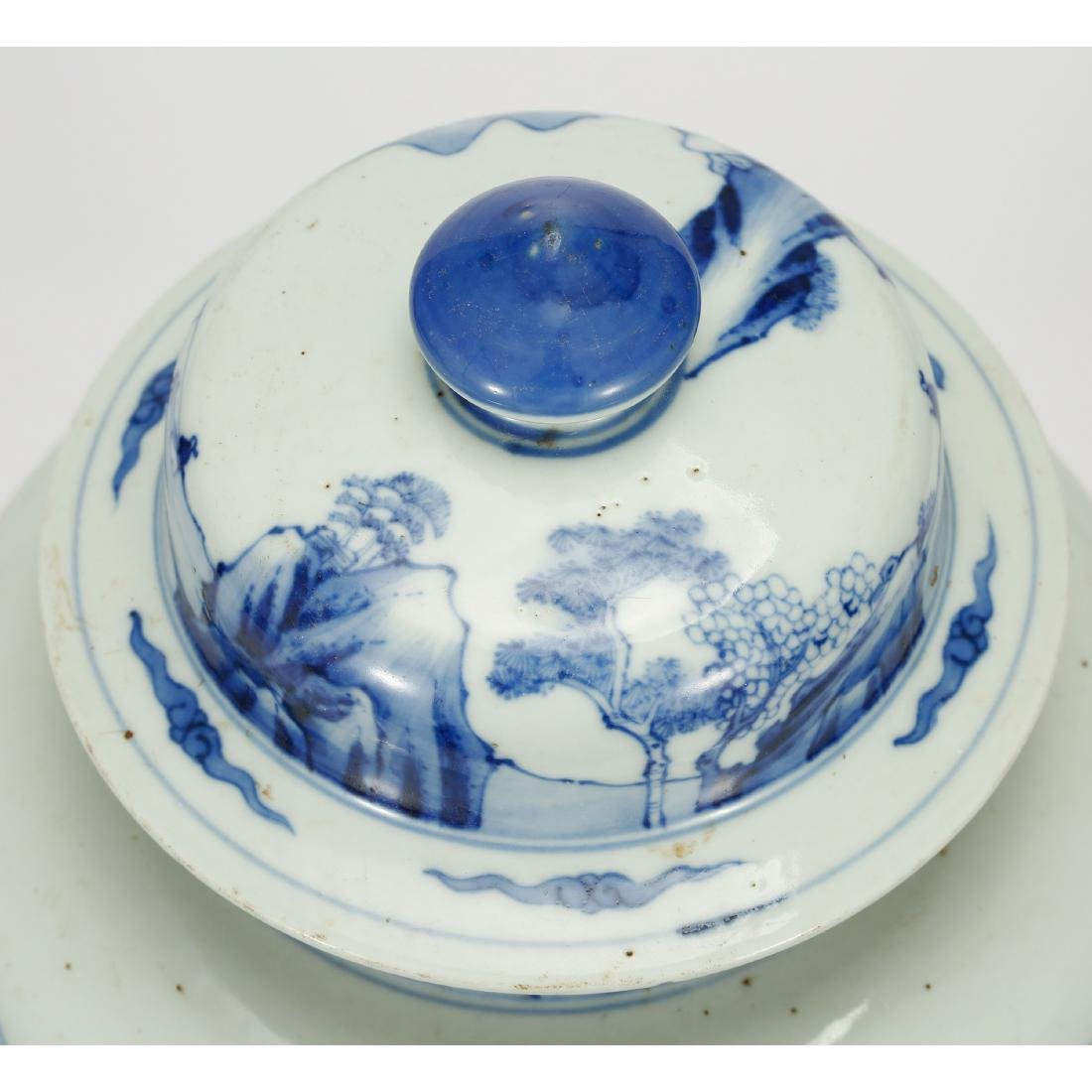 CHINESE BLUE AND WHITE GINGER JAR - 4