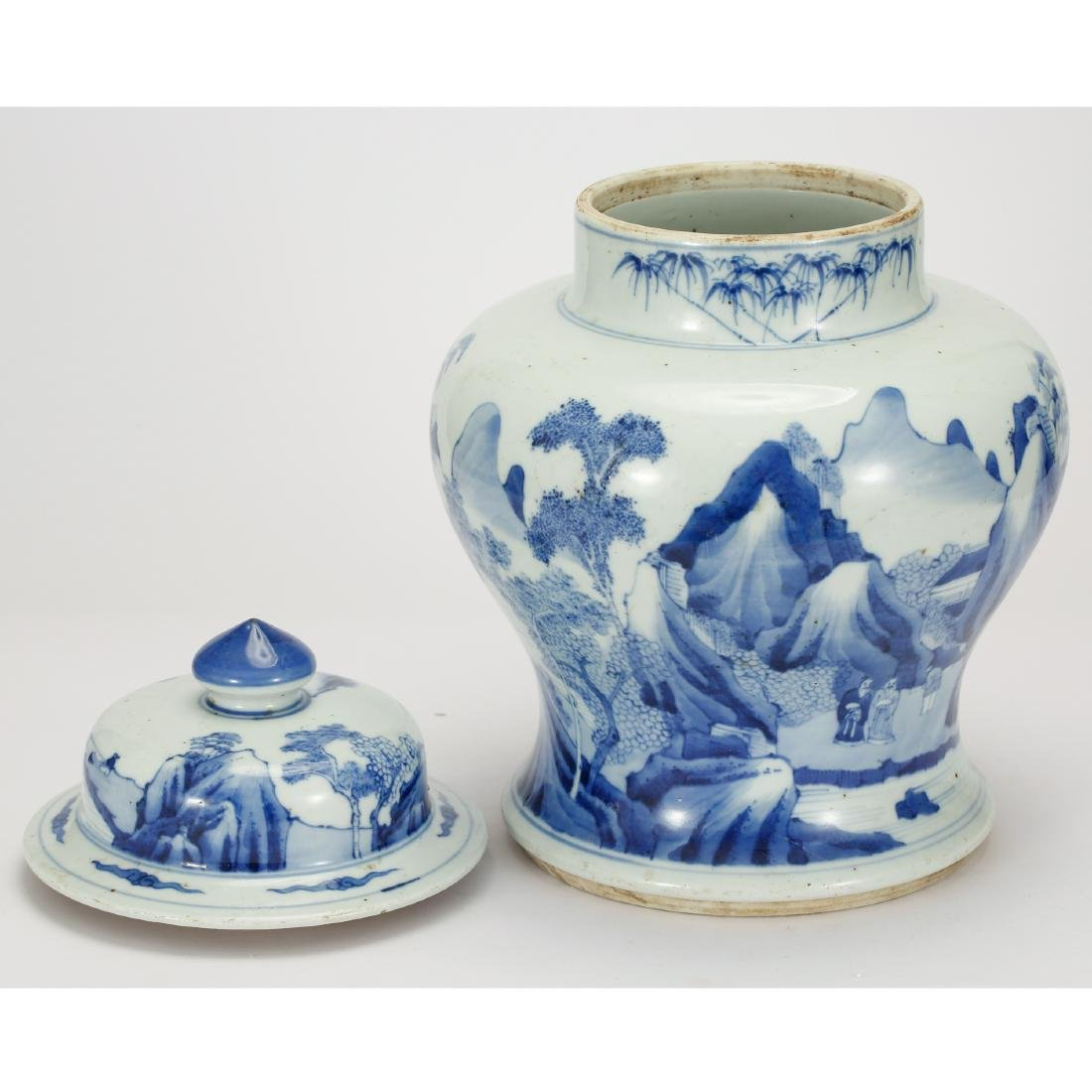 CHINESE BLUE AND WHITE GINGER JAR - 5