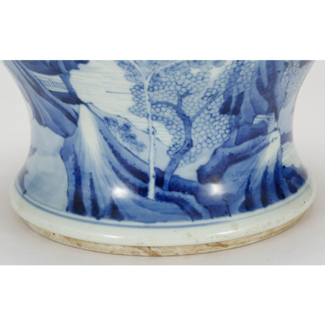 CHINESE BLUE AND WHITE GINGER JAR - 8
