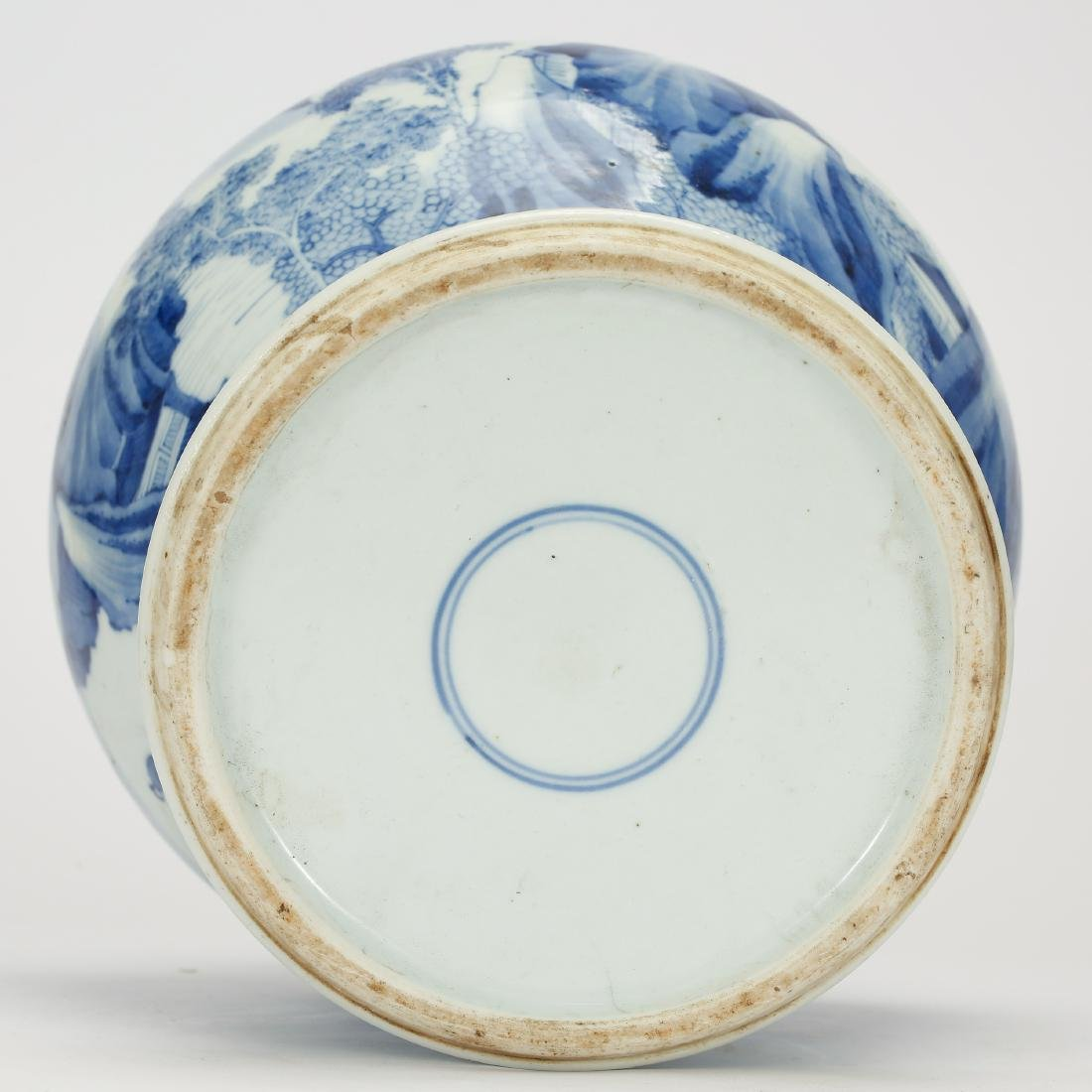 CHINESE BLUE AND WHITE GINGER JAR - 9