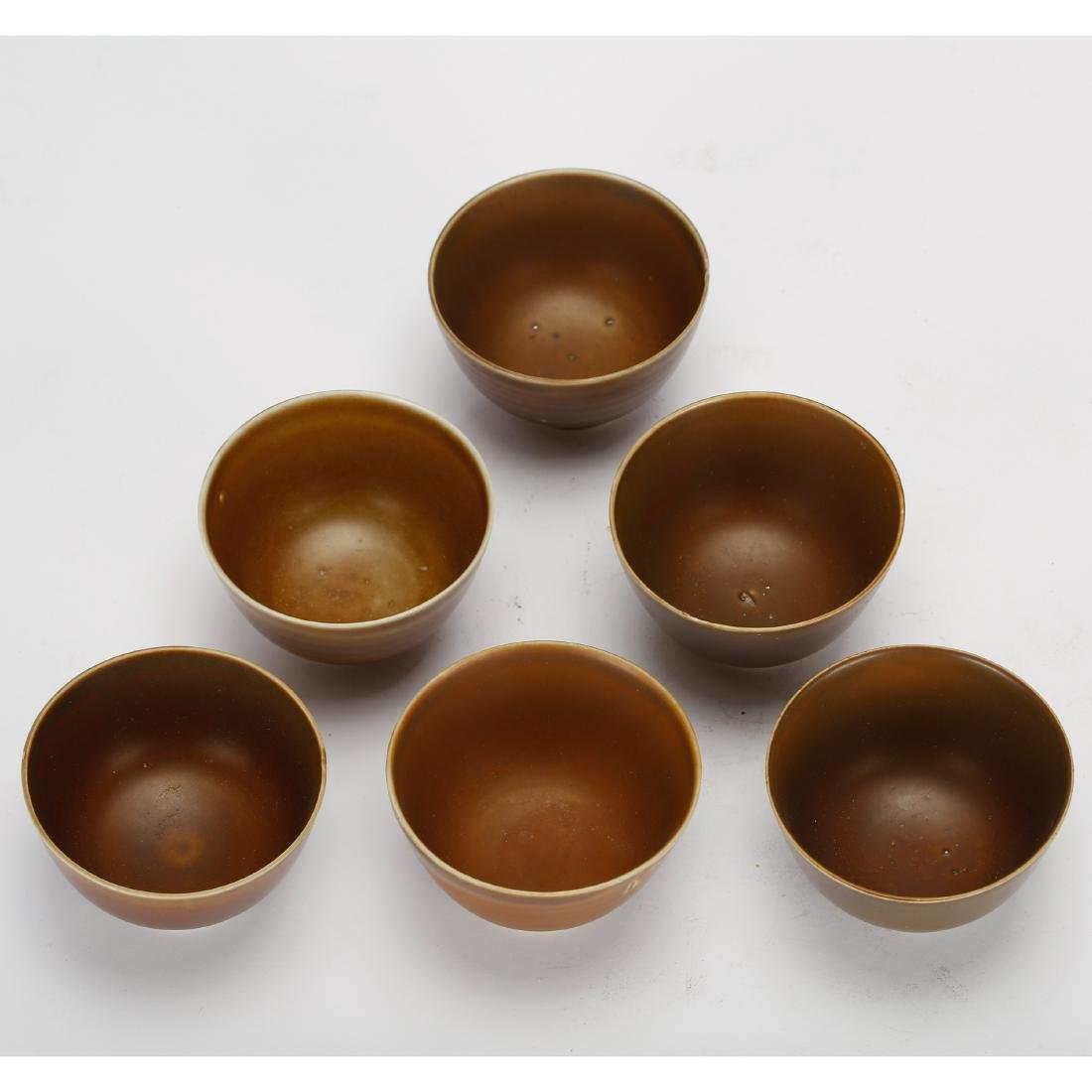 CHINESE GROUP OF 6 TEA CUPS - 2