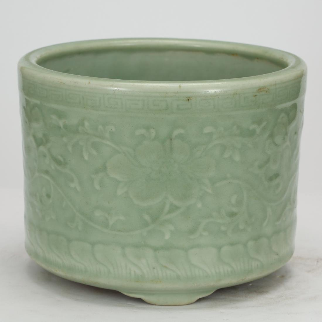 CHINESE CELADON GLAZED CENSER
