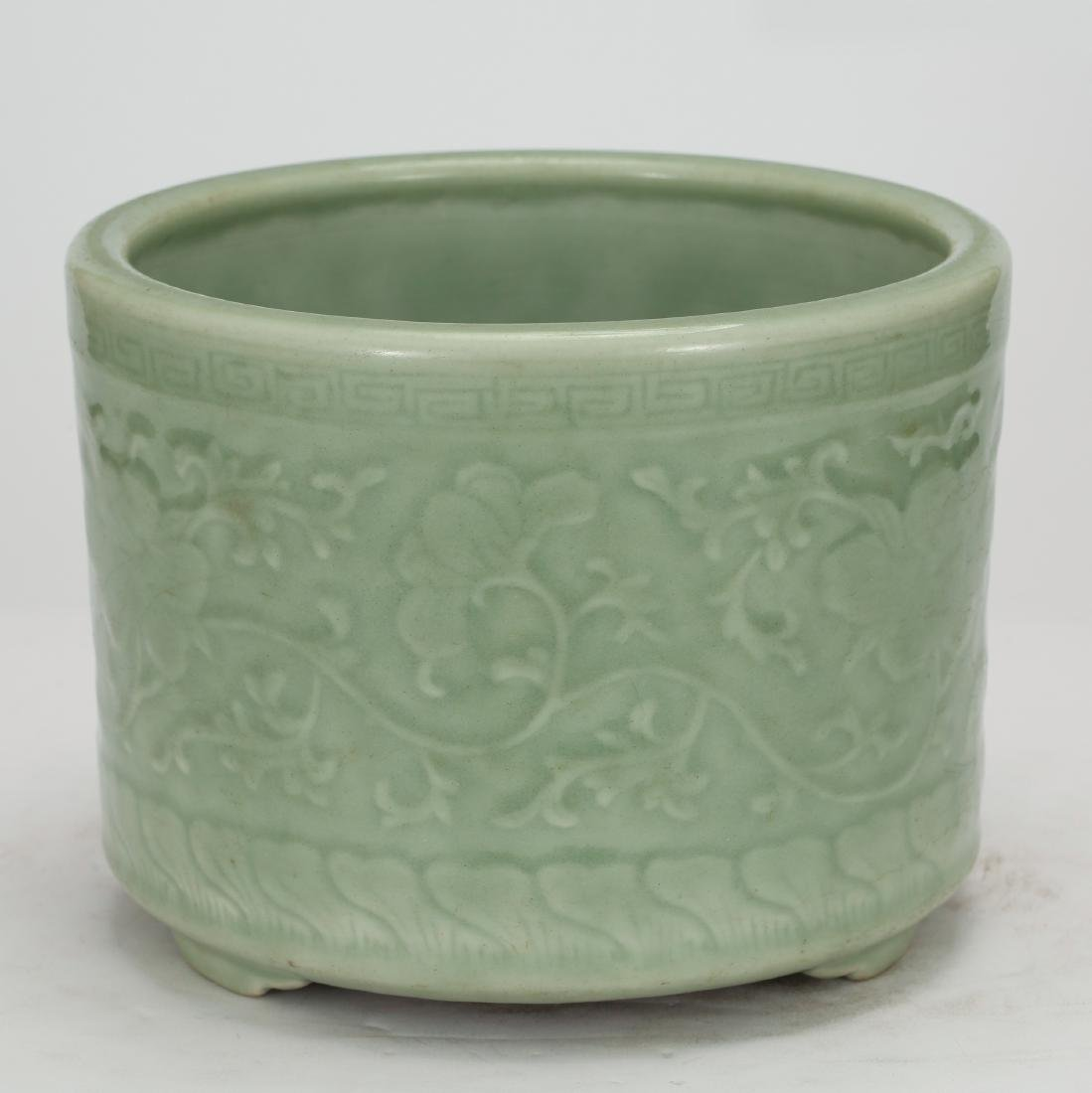CHINESE CELADON GLAZED CENSER - 2
