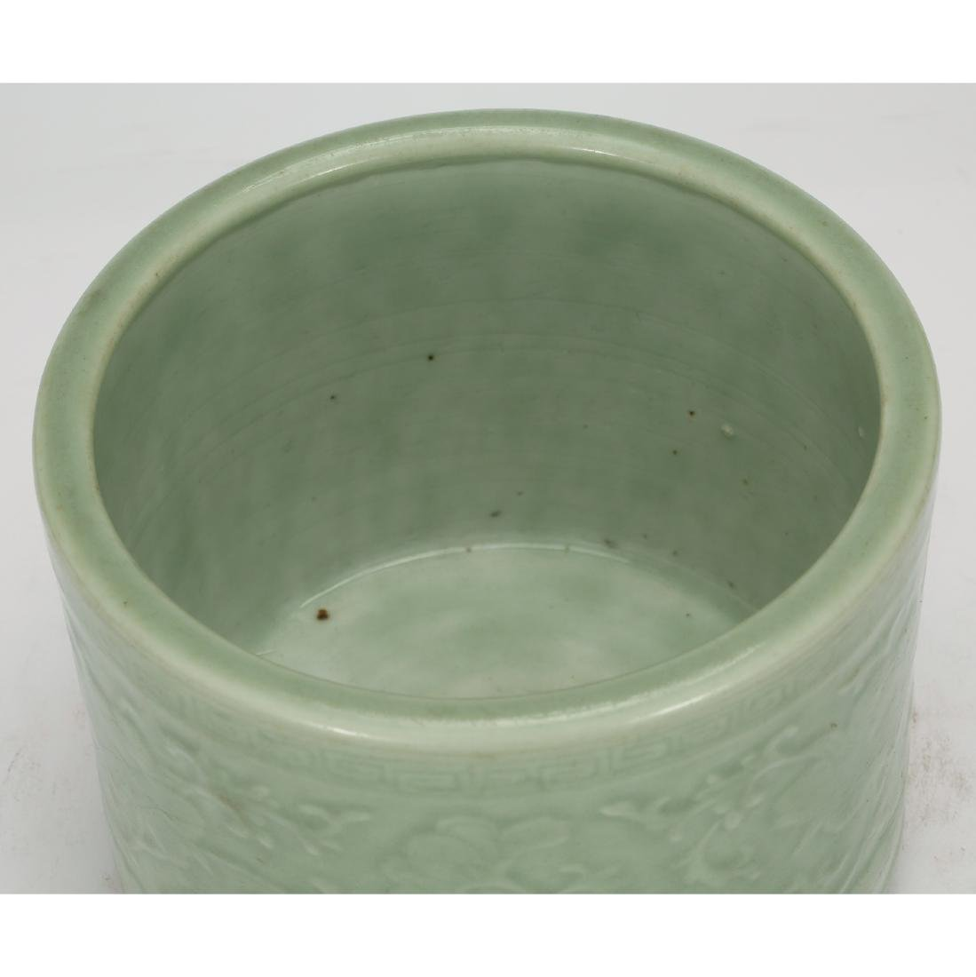 CHINESE CELADON GLAZED CENSER - 3