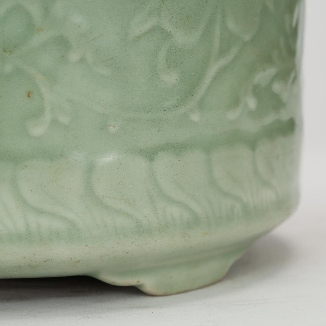 CHINESE CELADON GLAZED CENSER - 5