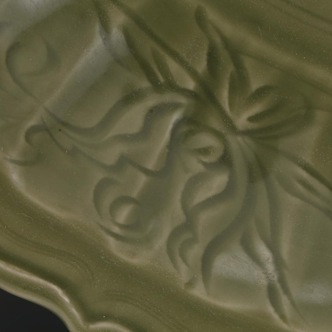 CHINESE CELADON LONGQUAN GLAZED CHARGER - 3