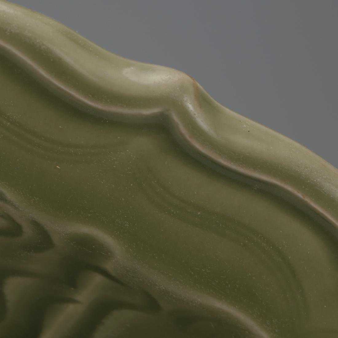 CHINESE CELADON LONGQUAN GLAZED CHARGER - 4