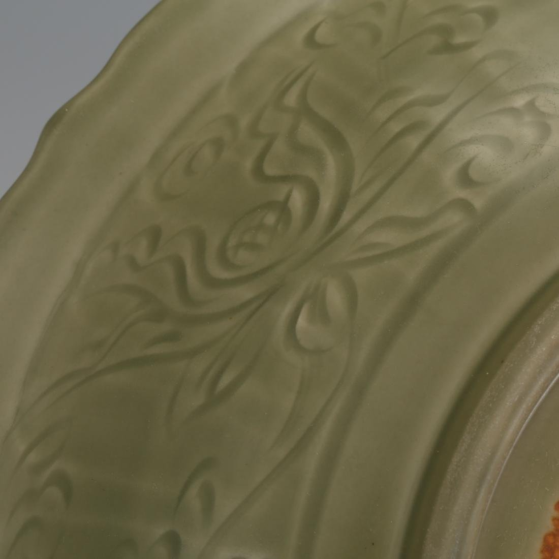 CHINESE CELADON LONGQUAN GLAZED CHARGER - 5