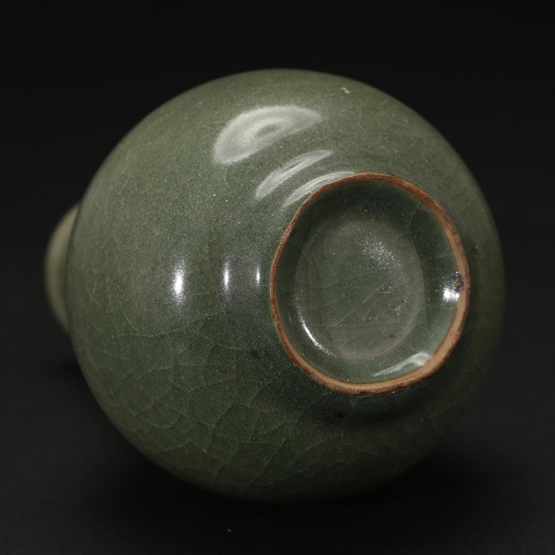 CHINESE CELADON GLAZED BOTTLE VASE - 7