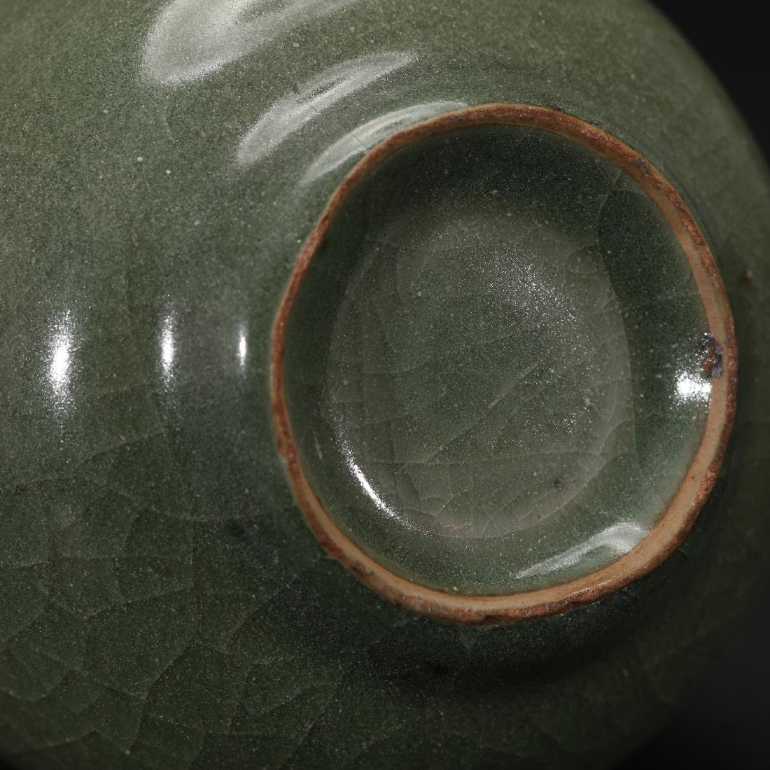 CHINESE CELADON GLAZED BOTTLE VASE - 8