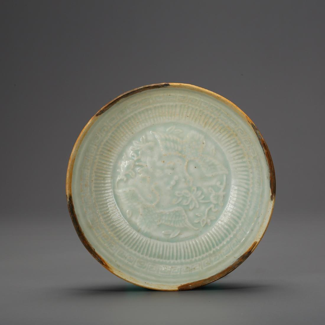 CHINESE CELADON GLAZED PLATE - 3