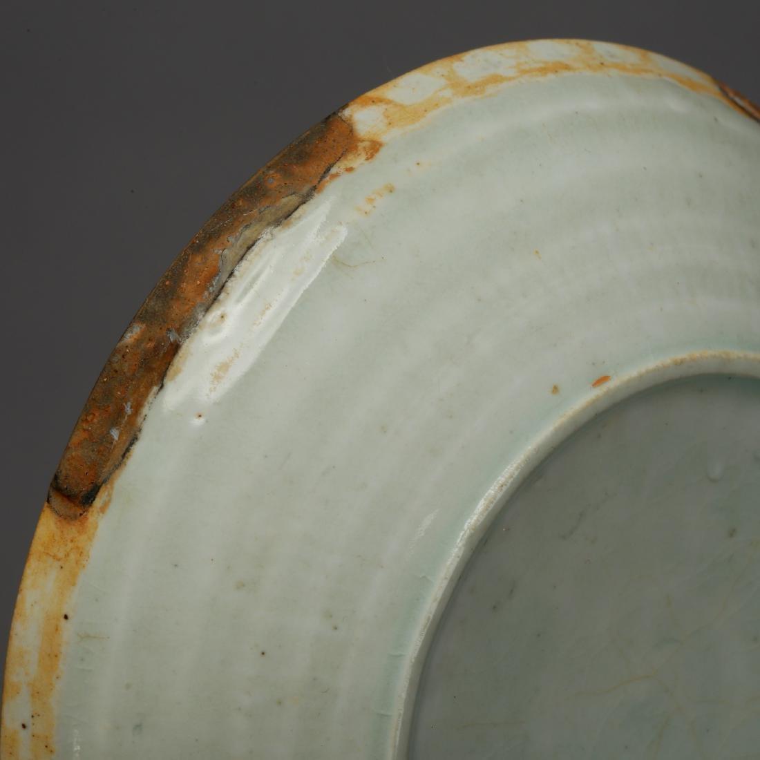 CHINESE CELADON GLAZED PLATE - 7